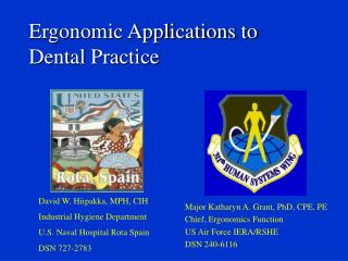 Ergonomic Applications to Dental Practice