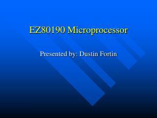 EZ80190 Microprocessor