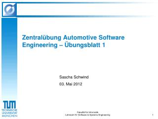 Zentralübung Automotive Software Engineering – Übungsblatt 1