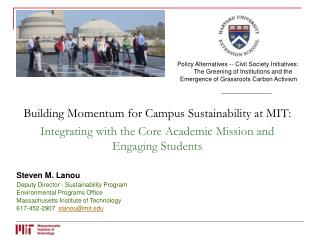 Building Momentum for Campus Sustainability at MIT: