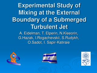 Experimental Study of Mixing at the External Boundary of a Submerged Turbulent Jet
