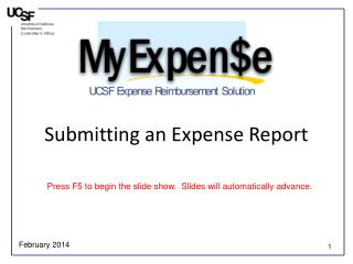 Submitting an Expense Report