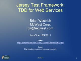 Jersey Test Framework:  TDD for Web Services
