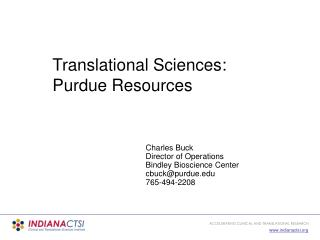 Translational Sciences: Purdue Resources