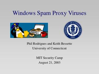 Windows Spam Proxy Viruses