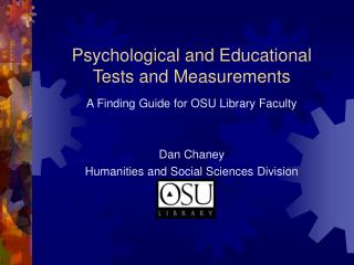 Psychological and Educational Tests and Measurements