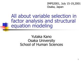 All about variable selection in factor analysis and structural equation modeling