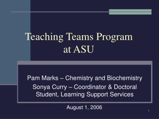 Teaching Teams Program  at ASU
