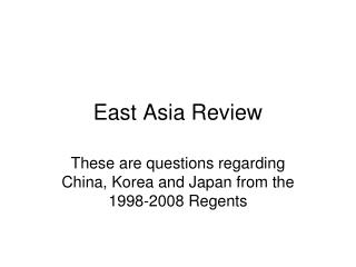 East Asia Review