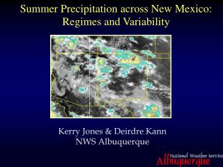 Summer Precipitation across New Mexico: Regimes and Variability