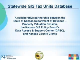 Statewide GIS Tax Units Database