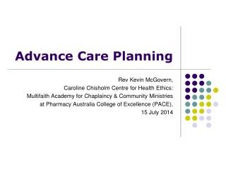 Advance Care Planning