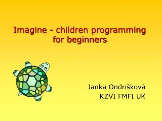 Imagine - children programming for beginners