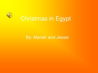 Christmas in Egypt