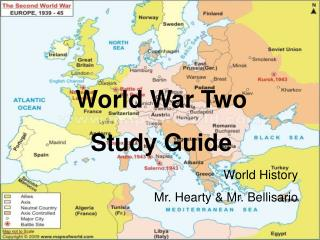 World War Two  Study Guide