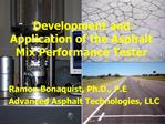 Development and Application of the Asphalt Mix Performance Tester