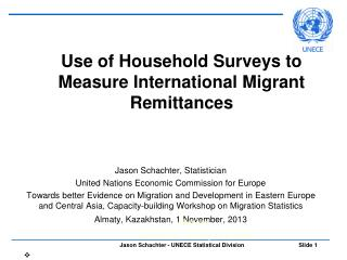 Use of Household Surveys to Measure International Migrant Remittances