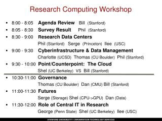 Research Computing Workshop