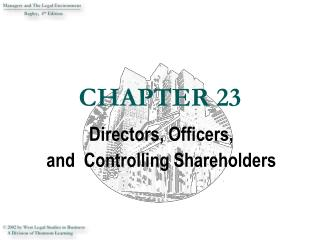 Directors, Officers,  and  Controlling Shareholders