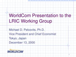 WorldCom Presentation to the LRIC Working Group