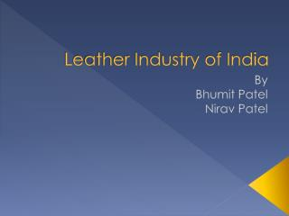 Leather Industry of India