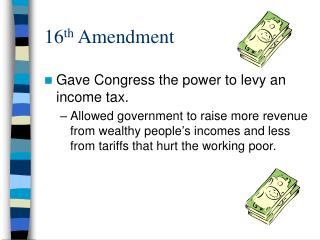 16 th  Amendment