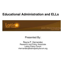 Educational Administration and ELLs