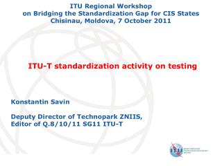 ITU-T standardization activity on testing