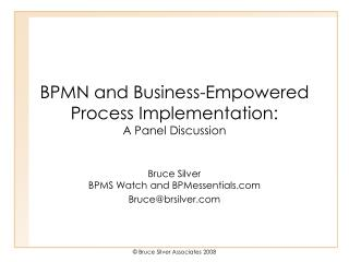 BPMN and Business-Empowered Process Implementation: A Panel Discussion