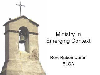 Ministry in Emerging Context