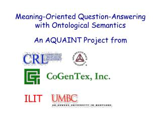 Meaning-Oriented Question-Answering with Ontological Semantics