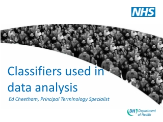 Classifiers used in data analysis