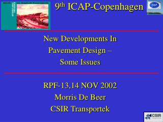 9 th  ICAP-Copenhagen