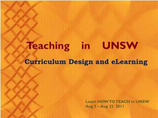 Teaching    in    UNSW