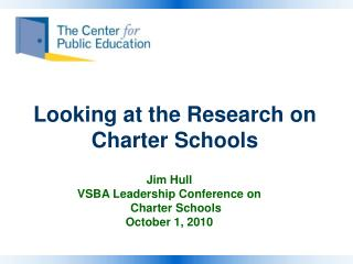 Looking at the Research on Charter Schools