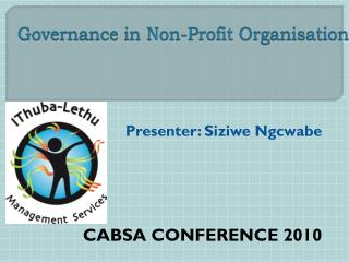 Governance in Non-Profit  Organisation