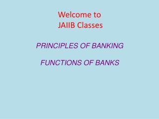 Welcome to JAIIB Classes