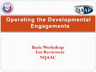 Basic Workshop  For Reviewers NQAAC