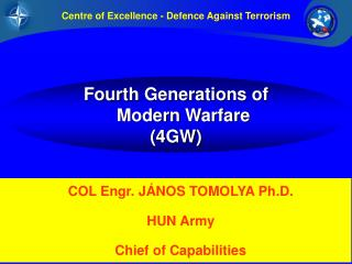 Four th  Generations  of Modern  Warfare (4GW)