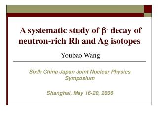 A systematic study of  b -  decay of neutron-rich Rh and Ag isotopes