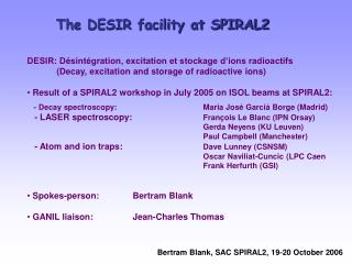 The DESIR facility at SPIRAL2