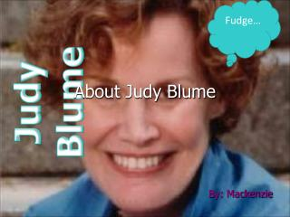 About Judy Blume