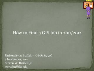 How to Find a GIS Job in 2011/2012