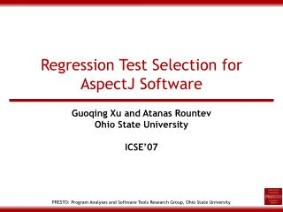 Regression Test Selection for AspectJ Software