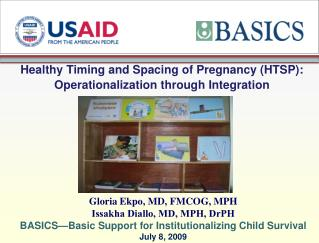 Healthy Timing and Spacing of Pregnancy (HTSP): Operationalization through Integration