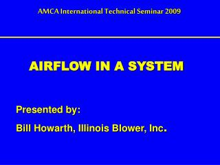 AIRFLOW IN A SYSTEM