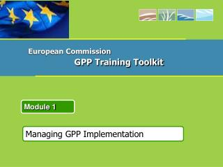 Managing GPP Implementation