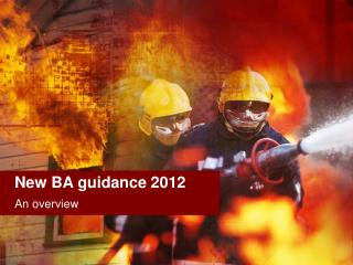 New BA guidance 2012