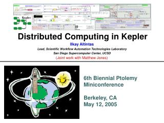 Distributed Computing in Kepler