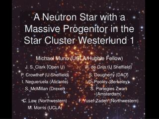 A Neutron Star with a Massive Progenitor in the Star Cluster Westerlund 1